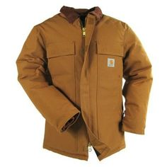 Carhartt Clothing Men's C003 BRN Brown Traditional Arctic Duck Coat