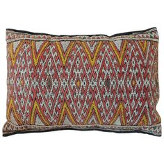 Vintage Moroccan Embroidery Bolster Pillow.   From a unique collection of antique and modern pillows and throws at http://www.1stdibs.com/furniture/more-furniture-collectibles/pillows-throws/