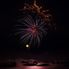 July 4, Hyannis Port by Joseph O. Holmes. Prints available from $24. Love, sparks, and fireworks. #bridalshower #wedding #gift
