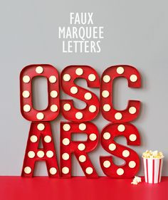 Oscars or Movie Party Theme...Faux marquee letters