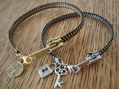 Tutorial: zipper bracelet