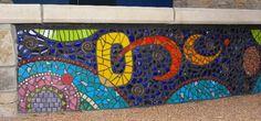 the Domain - Austin TX. Abstract geometric mosaic