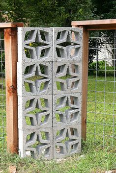 One Year Later: Concrete Screen Block by cmwoodley, via Flickr