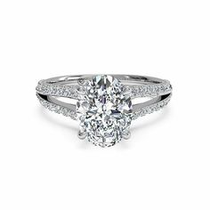Oval cut engagement ring, I love it!
