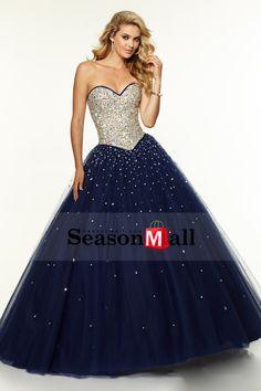 2015 Двухцветные Quinceanera платья Милая бальное платье длиной до пола бисером лиф