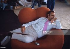 Scottish actor Sean Connery relaxes on the set of the James Bond film 'Diamonds Are Forever' on May 1, 1971 in Las Vegas, USA.