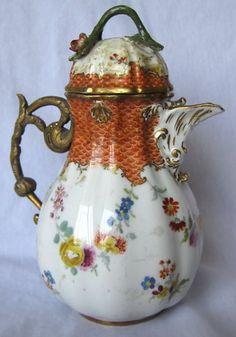 19th Century Meissen Hand Painted Porcelain Coffee Pot |