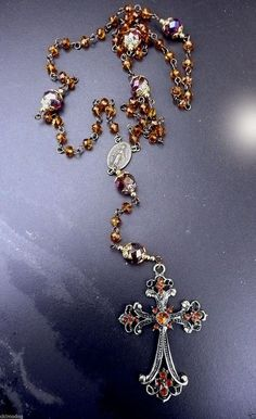 Genuine Topaz and Amethyst AB Austrian Crystal by IslandGirl77