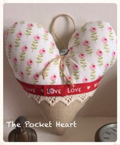 My pocket hearts made of Tilda fabrics.