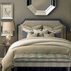 www.chapinfurniture.com-HGTV Home® Custom Upholstered Florence Clipped Corner Headboard by Bassett Furniture