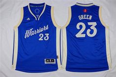 Youth Golden State Warriors #23 Draymond Green Blue 2015-2016 Christmas Day Jersey