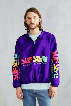 Surf Style X UO Reissue Windbreaker, Purple // $69.00