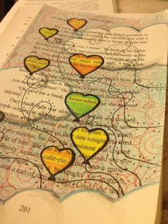 HEART DOODLE by Stacia Leigh at Espial Design- Blackout Poetry from Dealing With Blue, a teen romance.