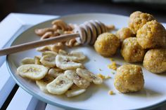 Mango, Banana and Honey Cashew Energy Bites