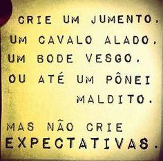 Nao crie expectativas