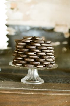 Simple cookie tower from alealovely.com