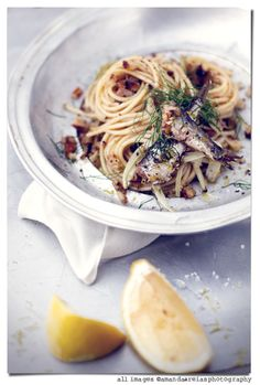 // Spaghetti with sardines & fennel