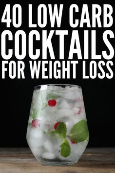 Weight Loss and Alcohol: 40 Low Carb Cocktails to Indulge In Low Carb Cocktails, Low Calorie Alcoholic Drinks, Alcholic Drinks, Light Alcoholic Drinks, Healthy Cocktails, Low Cal Drinks Alcohol, Vodka Summer Drinks, Simple Vodka Cocktails, Cocktail Drinks