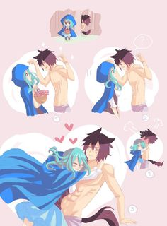 Here's the last one of my sketchs~ First meeting of Juvia/Little blue riding hood and Gray/Big bad wolf! My others dumb sketchs of this AU: colored-sky.deviantart.com/art… colored-sky.devian...