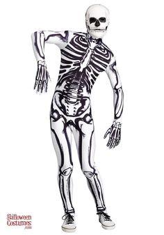 Mens Skeleton Costume, Scary Halloween Costumes