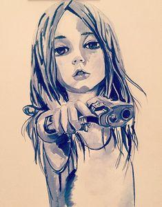 аниме девушка с пистолетом у виска - Поиск в Google