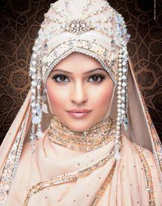 Wedding hijaab  -  for that 'once in a lifetime' occasion #MuslimWedding, www.PerfectMuslimWedding.com