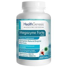 Health Genesis Megazyme Forte +Plus 200 Tabs - Improved Formula - ZYME48 by Health Genesis. For product info go to: https://all4babies.co.business/health-genesis-megazyme-forte-plus-200-tabs-improved-formula-zyme48-by-health-genesis/