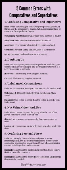 Writing tips: 5 comparative or superlative errors