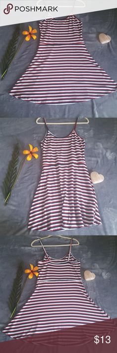Atmosphere Summer Red This dress is super cute and soft and loose. The bottom part is very breezy too. Never worn and is clean. The material is also stretchy  Pit to Pit- 16in Top of Strap to Bottom-37in  Waist-16 1/2in (keep in mind it is stretchy it'll fit more) Atmosphere Dresses