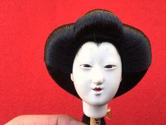 Japanese Doll Head Hina Matsuri Girl D4-51 by VintageFromJapan on Etsy