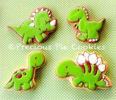 Cute baby dinosaur cookies