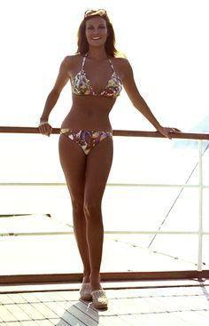 Raquel Welch models some swimwear in The Last of Sheila Raquel Welch, Beautiful People, Beautiful Women, Bikinis, Swimwear, Famous Women, Up Girl, Classic Beauty, Beautiful Actresses