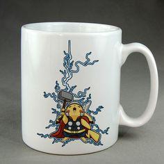 pikachu as thor, pikachu mug, customized mug, ceramic,  two sided mug
