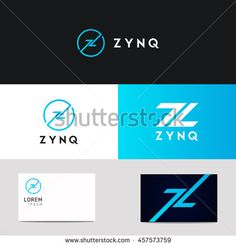 Abstract company Z letter circle sign vector icon logo design