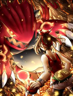 Pokemon ORAS countdown - The battle by ICanReachTheStars.deviantart.com on @deviantART (May vs. Primal Groudon)