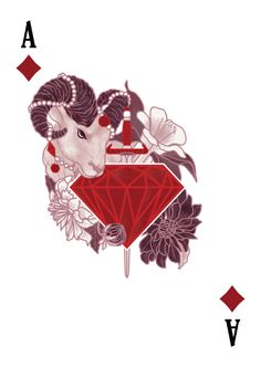 The Count of Montecristo Playing Cards - Ace of Diamonds - playing cards art, game, playing cards collection, playing cards project, cards collectors, design, illustration, card game, game, cards, cardist, cardistry, card back