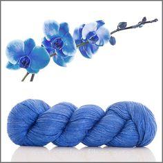 Expression Fiber Arts - BLUE ORCHID SHIMMER SILK FINGERING, $35.00 (http://www.expressionfiberarts.com/products/blue-orchid-shimmer-silk-fingering.html)