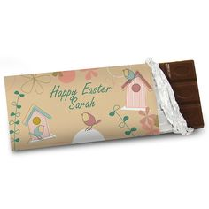 Spring Garden Chocolate Bar - Add a message and name