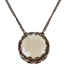 Relic by FOSSIL Brown Glitz with Round Stone Fashion Charm Necklace