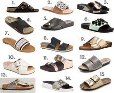 spring / slides / sandals / peep toe / summer Kevin Costner, Keds Shoes, Birkenstock Florida, Green Bag, Peep Toe, Pairs, Sandals, Spring, Summer