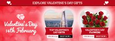Valentine's Day Banner from Buyagift with recommendations #Web #Digital #Banner #Online #Marketing #Retail #Gifts