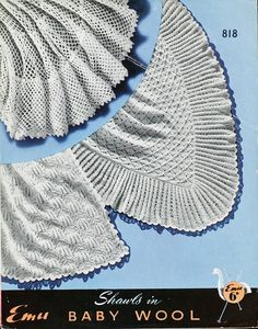 'Fern Stitch Shawl'  Pattern for a shawl  From Shawls in Baby Wool  1920s-1960s  Oh yes!