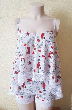 """Купить Пижама женская - одежда для дома """"Модница"""" - серый, пижама женская, хлопковая пижама, пижамка"""