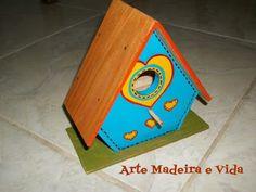 Arte, Madeira e Vida: Casa de passarinho - Quarto Davi