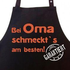 Kochschürze - bei OMA schmeckt`s am besten!
