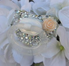 Bling Rhinestone Nuk Pacifier Paci Binky Baptism Bling Pacifier Novelty Item