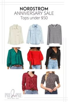 Great finds at the Nordstrom Anniversary Sale. I've rounded up my top picks in tops under $50. Hot Summer Outfits, Warm Weather Outfits, Nordstrom Anniversary Sale, Weekend Wear, Spring Trends, Get Dressed, Outfit Of The Day, Button Up Shirts, Winter Fashion