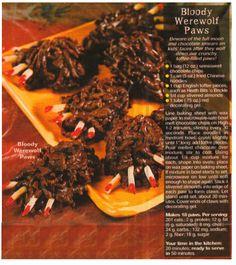 Bloody Werewolf Paws Gothic Halloween, Cheesesteak, Werewolf, Beef, Ethnic Recipes, Food, Meat, Essen, Meals