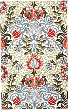 Graphic Design - Pattern Design Inspiration - William Morris Pattern Design : – Picture : – Description William Morris -Read More – Wallpaper Background Design, L Wallpaper, Pattern Wallpaper, Wallpaper Backgrounds, William Morris Patterns, William Morris Art, Textile Prints, Textiles, Textures Patterns