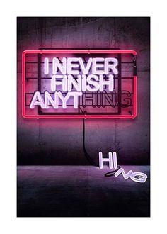 Never finish Affiche dans le groupe Affiches / Formats / 50x70cm chez Desenio AB (3288)